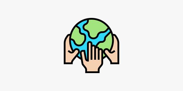 manos sosteniendo el mundo