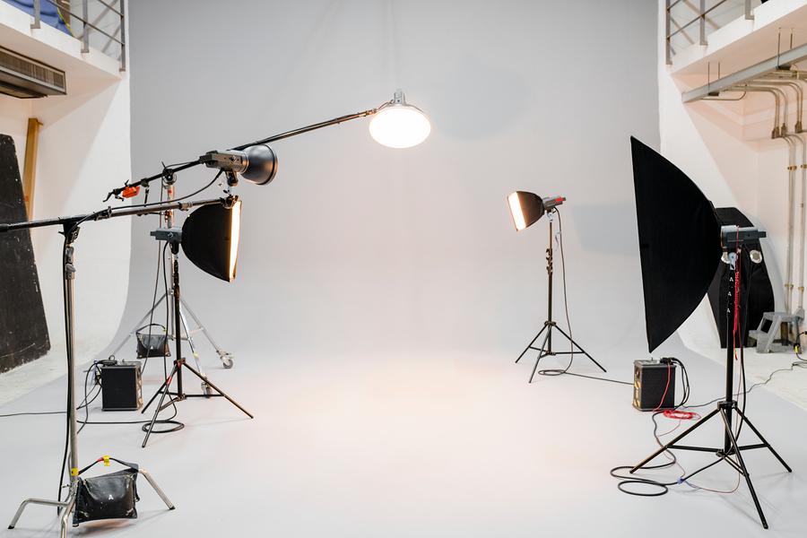 equipo de estudio fotográfico