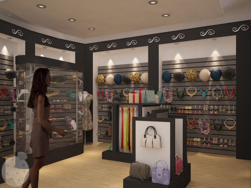 Mujer en tienda de accesorios