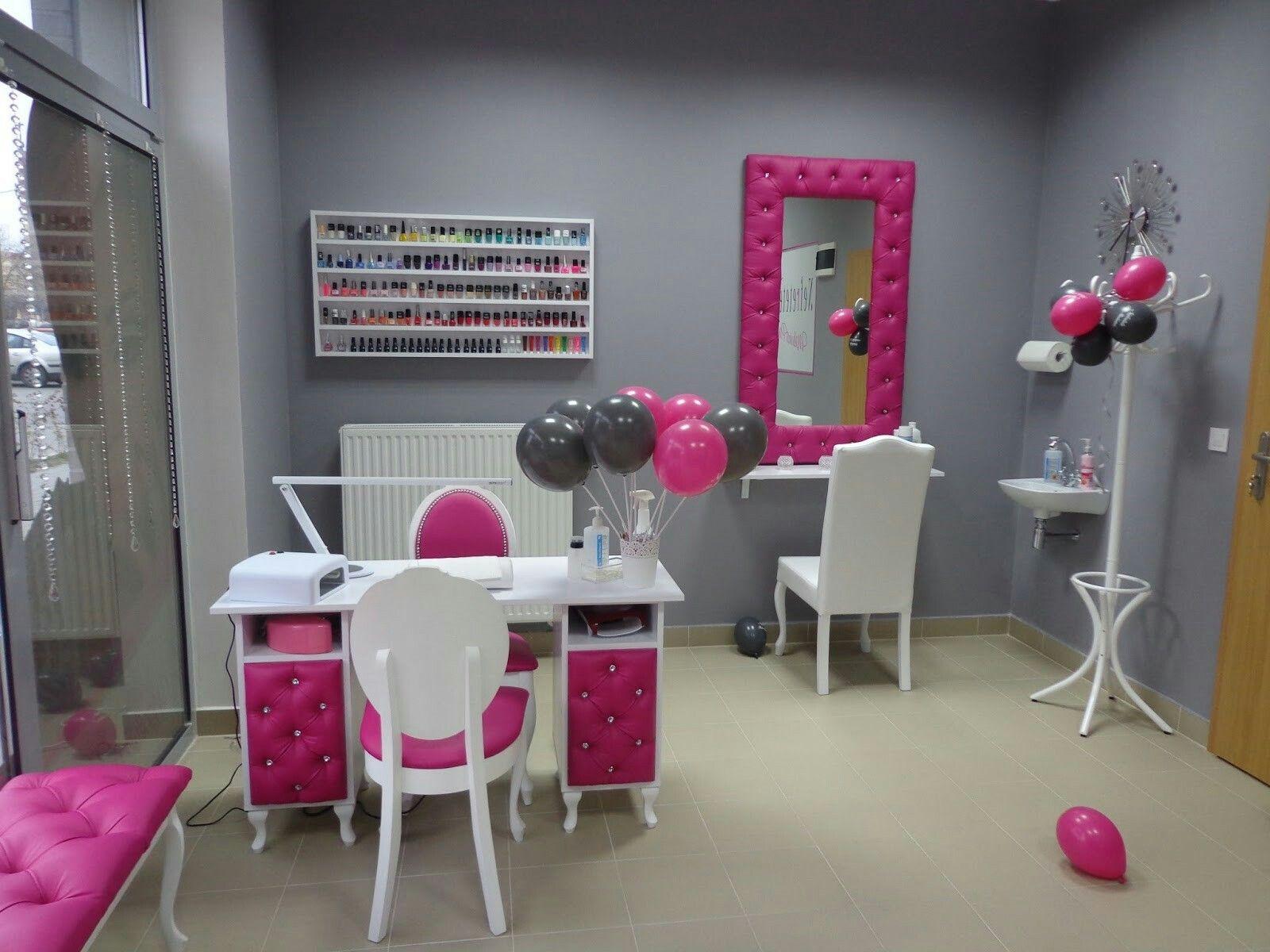 salon de belleza en rosado