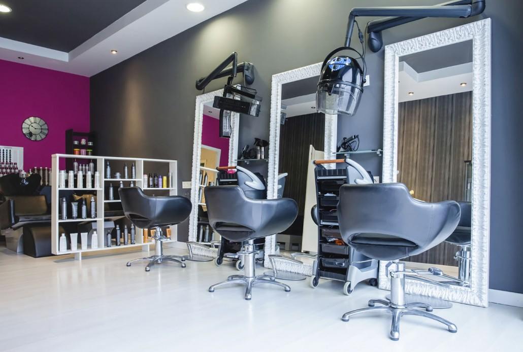 salon con colores morados