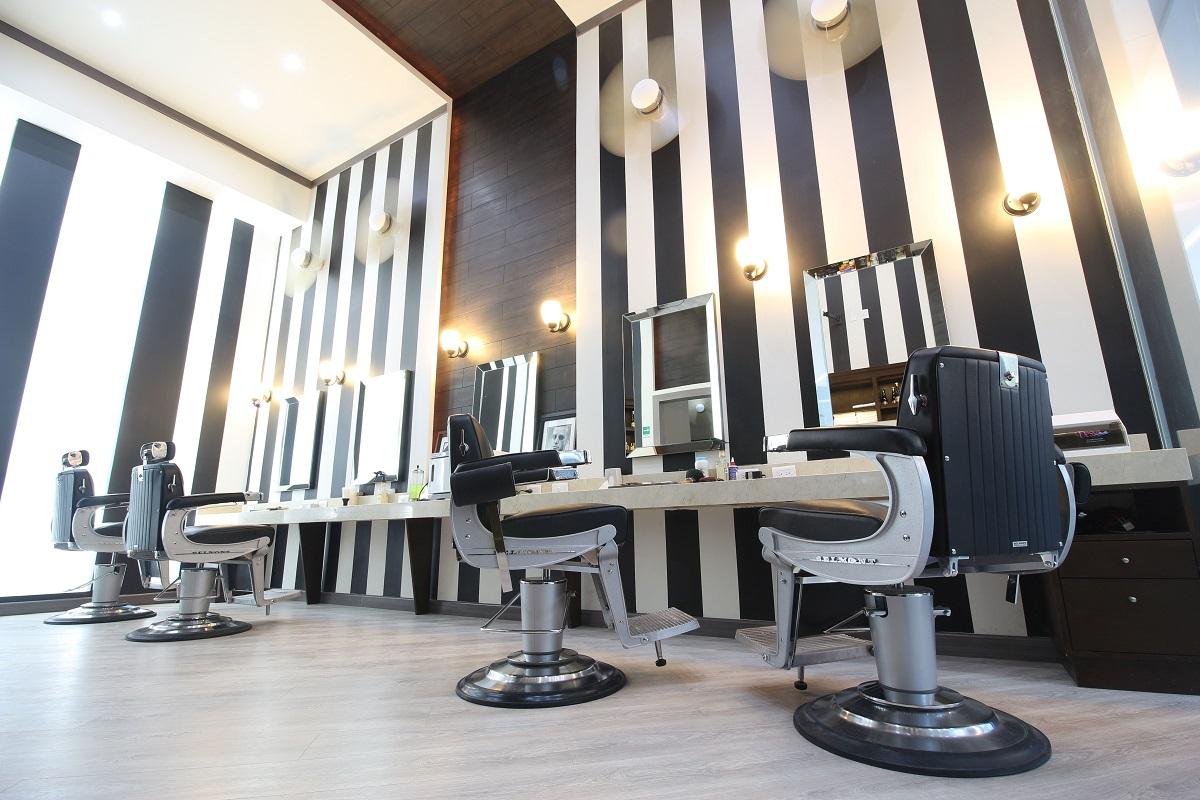 barberias en blanco y negro